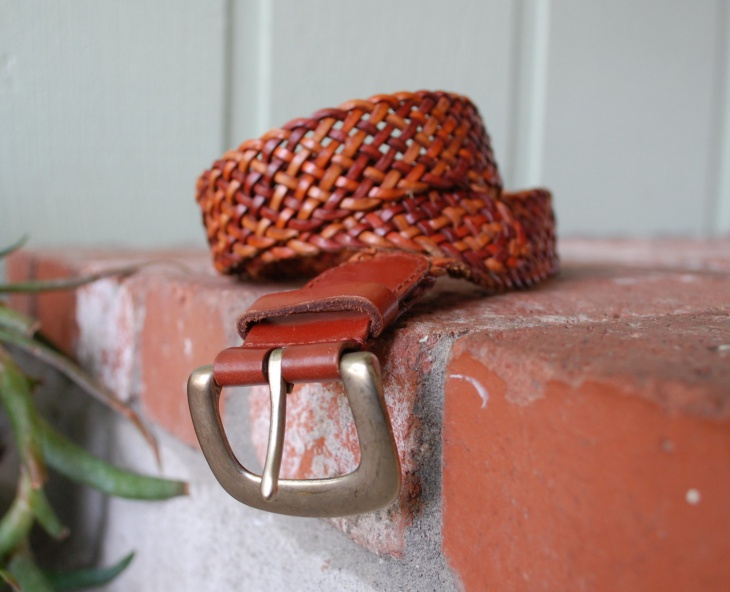 unique aztec leather belt