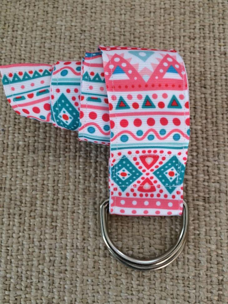 aztec print adjustable belt