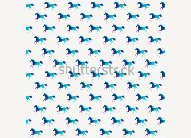 abstract triangular horses pattern