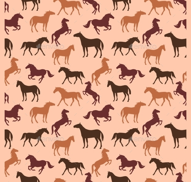 vintage colorful horse pattern