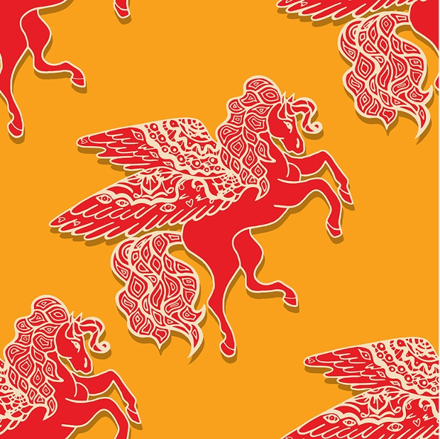 colorful seamless horse pattern