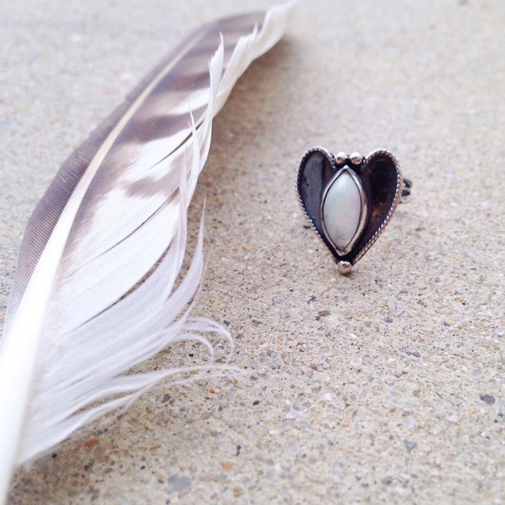 handmade heart shape ring