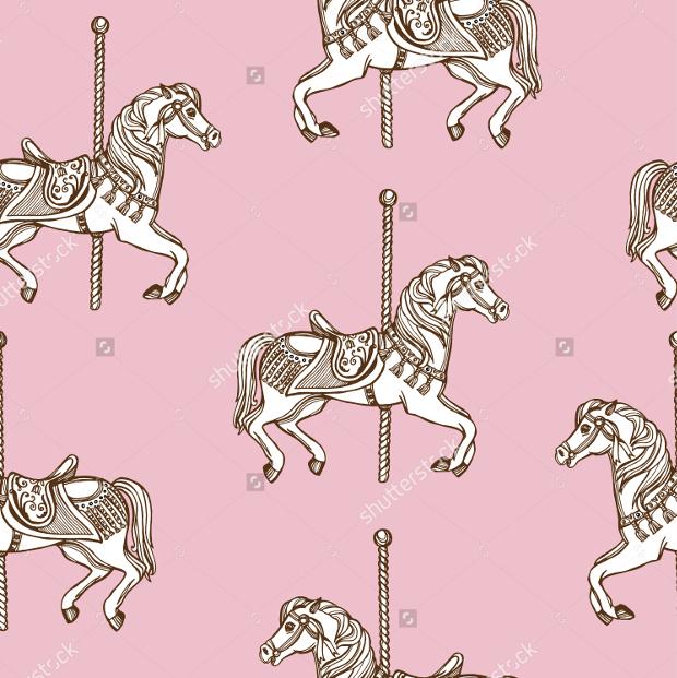 Hand Drawn Horse Pattern Design