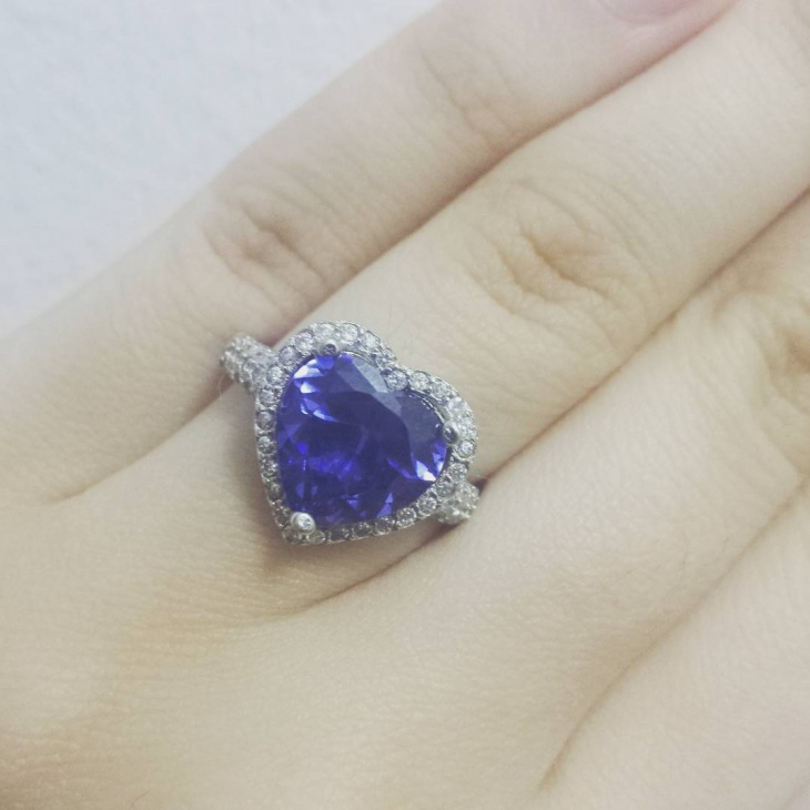 blue stone wedding ring