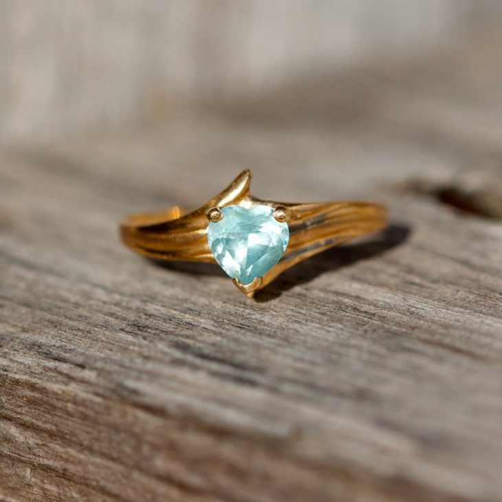 Vintage Style Topaz Ring