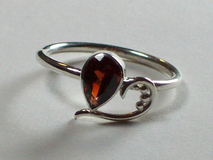 unique heart shaped ring