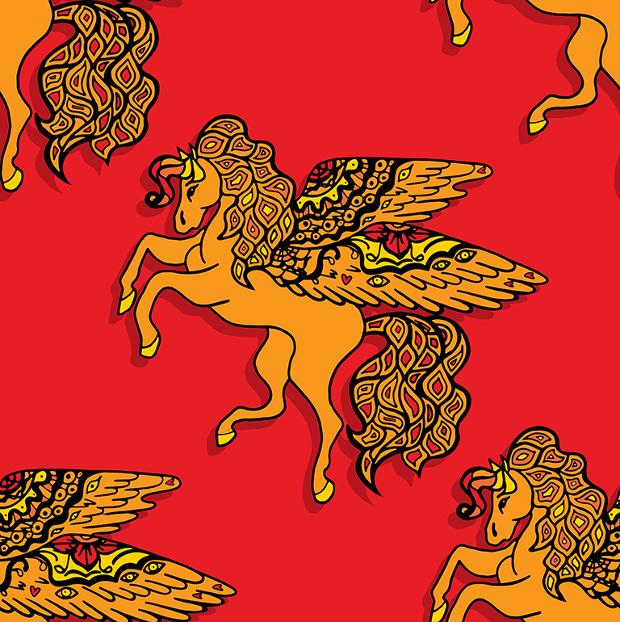 ethnic horse pattern