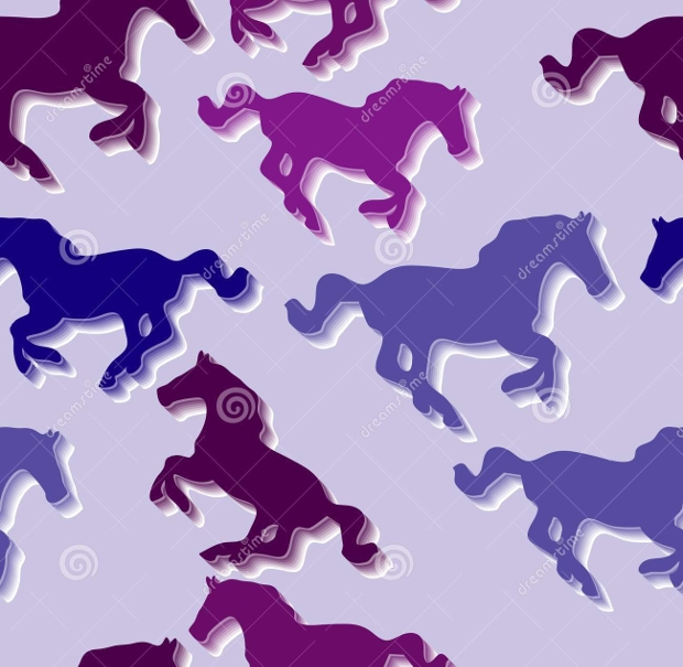 high quality seamless horse pattern