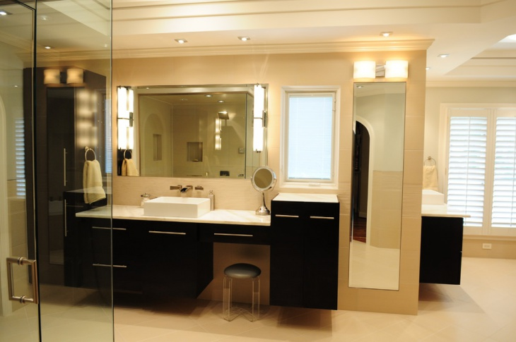 Black Bathroom Vanity Light Idea