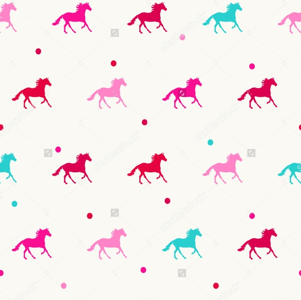 colorful horse pattern
