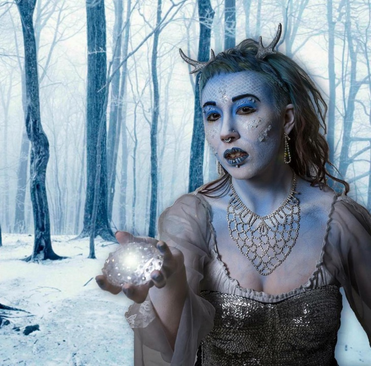 white snow witch makeup