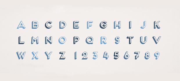 3d fontage font style