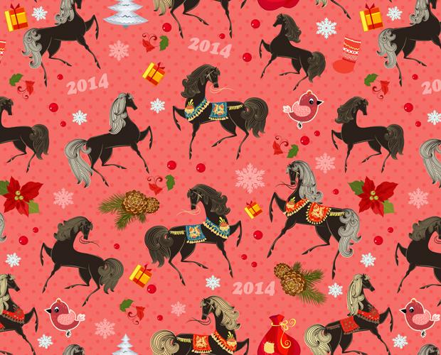 High Resolution Horse Pattern Design
