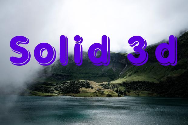 Solid 3D Font