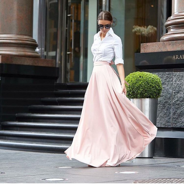 stylish long skirt idea