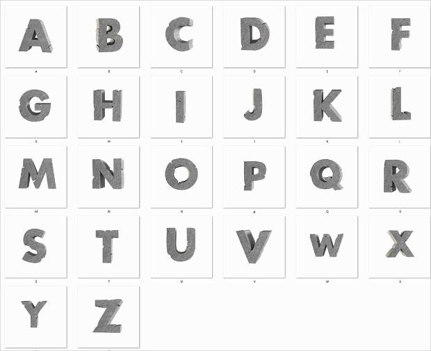 Stone 3D Lettering Font