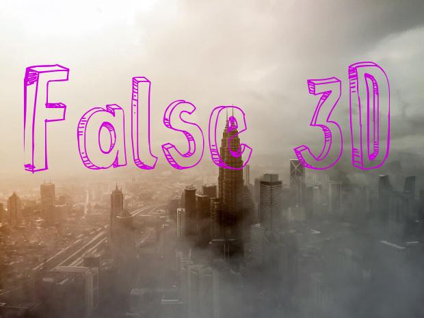 false 3d font