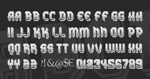gradient 3d font