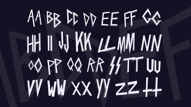 slaytanic 3d font