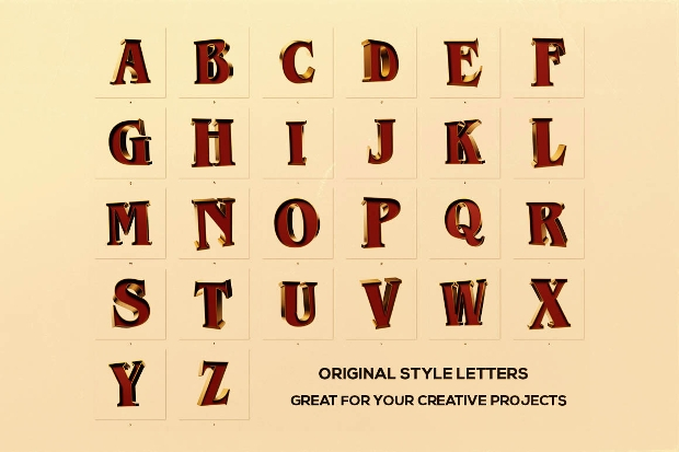 circus 3d lettering font