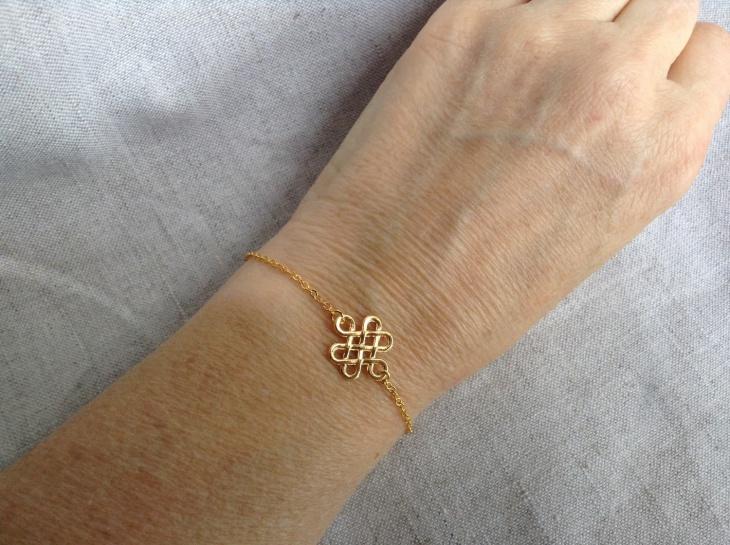 Gold Celtic Knot Bracelet
