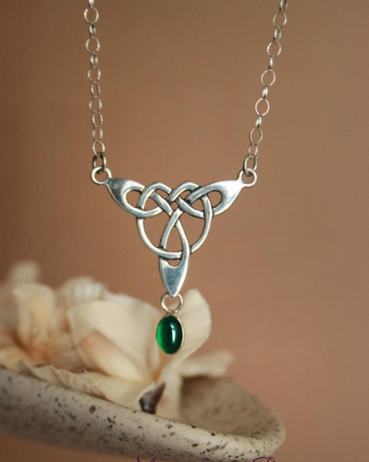 Sterling Celtic Festoon Necklace