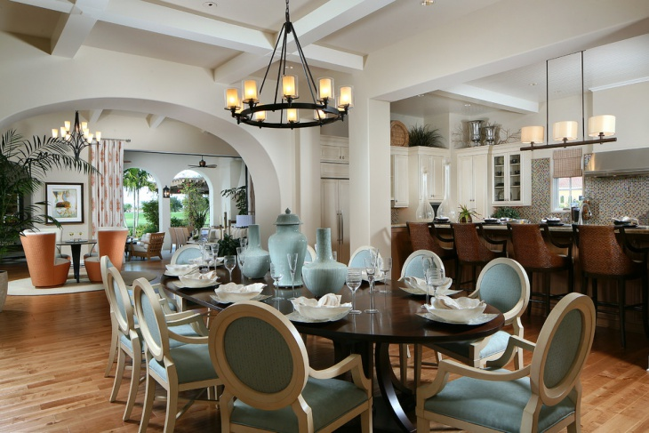 turquoise dining room light design