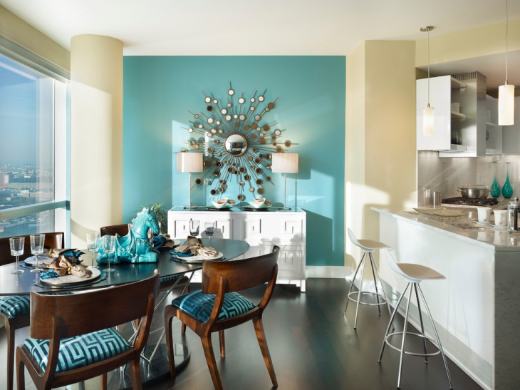 Turquoise Dining Room Wall Art