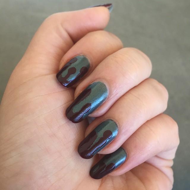 metal drip nail art