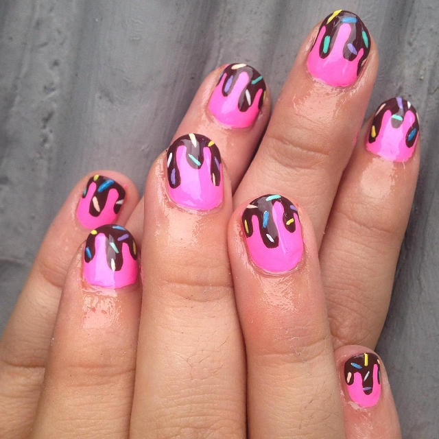 Candy Dripping Nails
