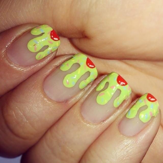 yellow drip nai design