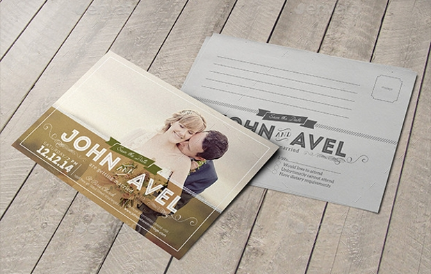 marriage invitation post cards