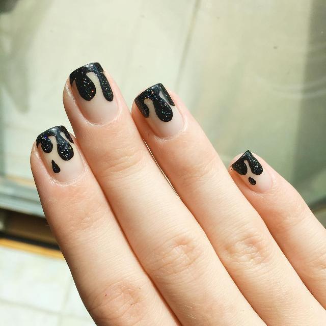 drip tip nail art