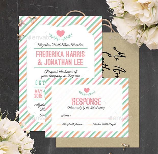marriage invitation psd template