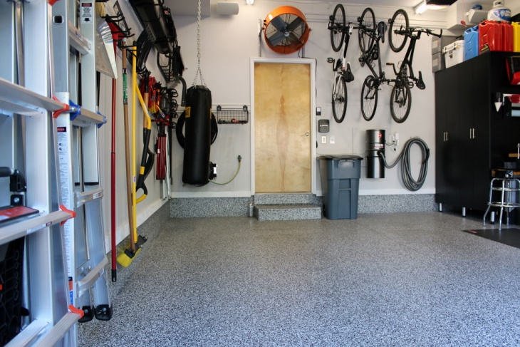 epoxy garage floor idea