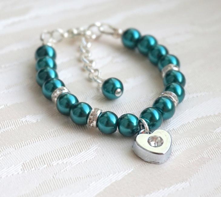 heart pendant bracelet