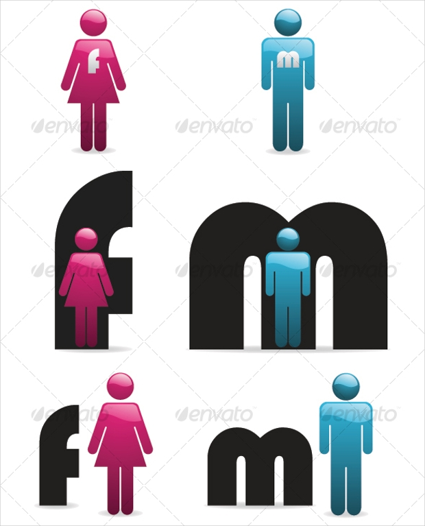 gender vector icons set