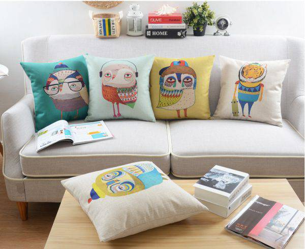 Owl cushion set