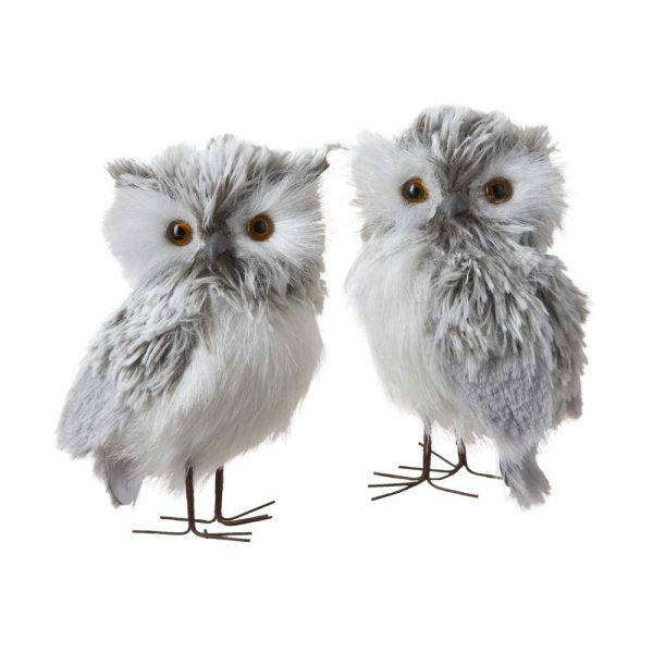 Decorative owl figures