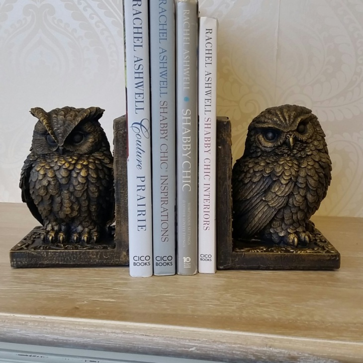 Antique owl book ends