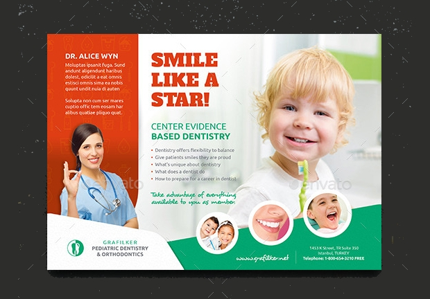 kids dental flyer