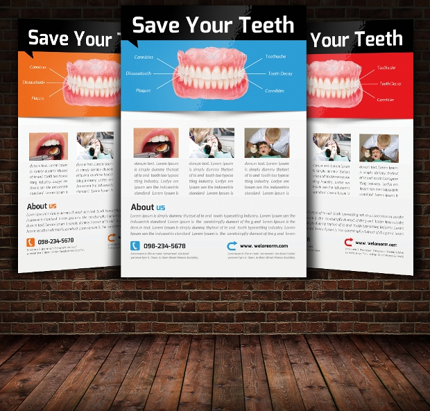 dentist flyer template
