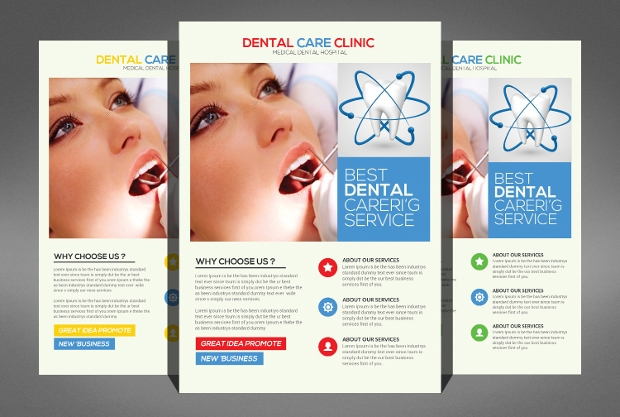 medical dental centre flyer