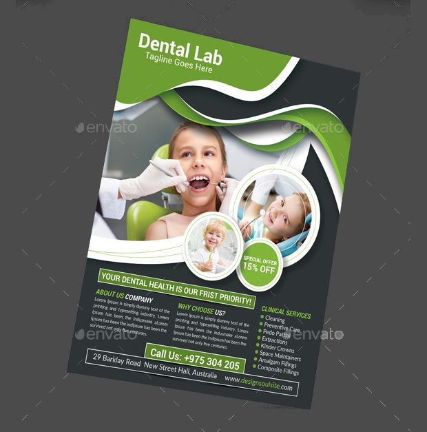 dental lab flyer