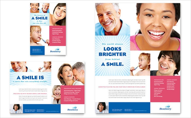family dentistry ad flyer template