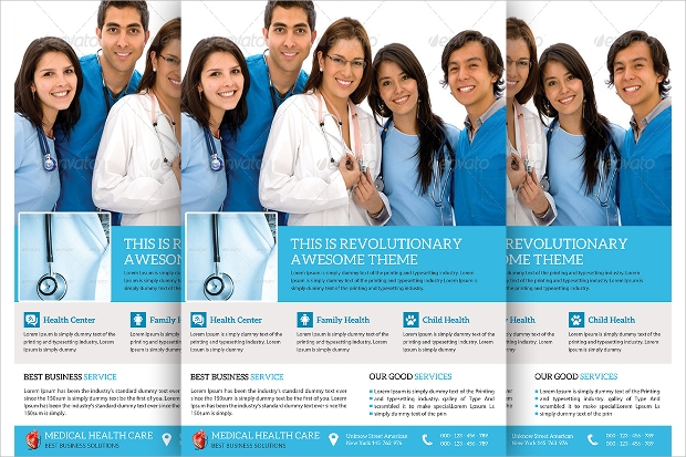 medical and doctor flyer template