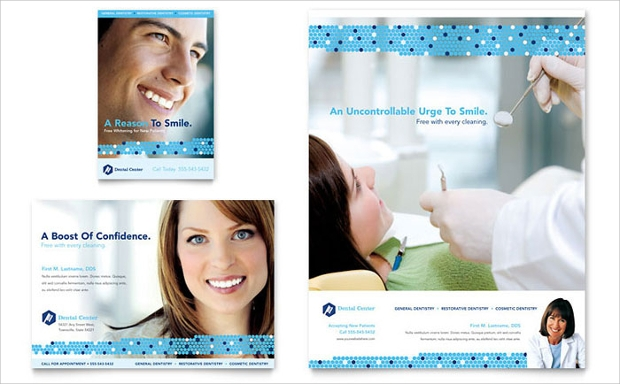 dentistry and dental office flyer