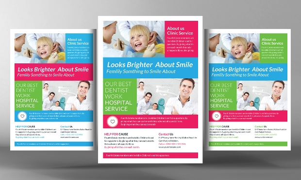 dental clinical flyer template
