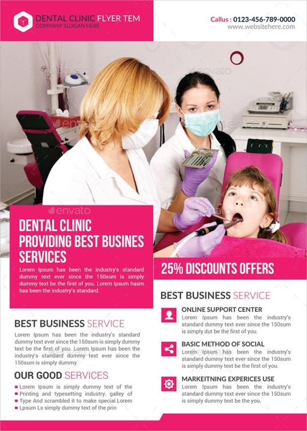 medical dental care health flyer