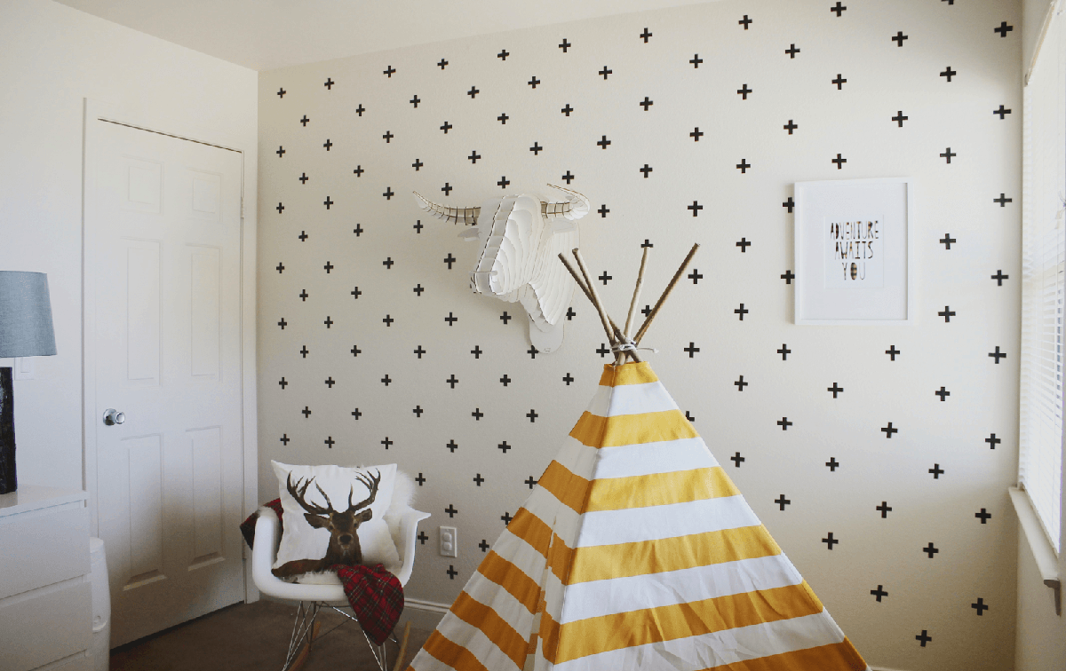 2. DIY Tape Wall Art